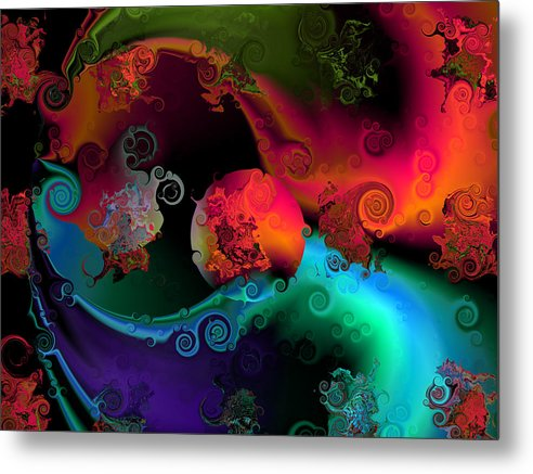 Abstract Metal Print featuring the digital art Seperation And Individuation by Claude McCoy