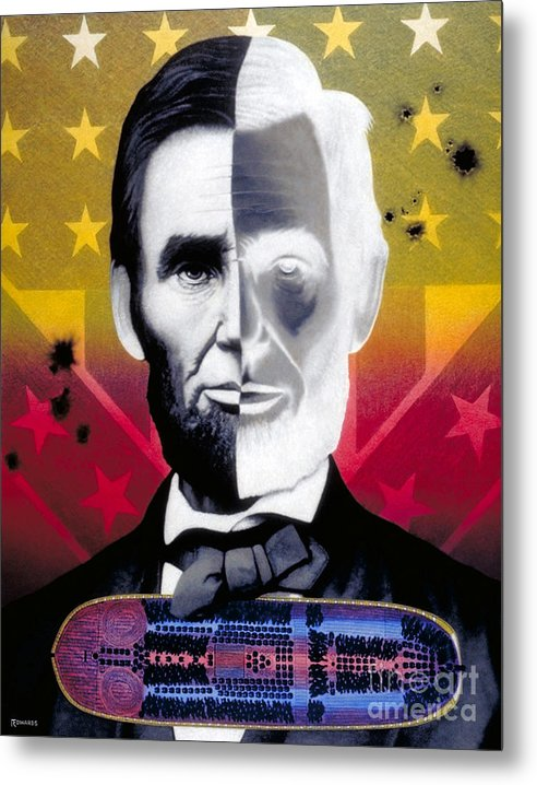 Civil War Metal Print featuring the painting Color In Black And White by Ross Edwards