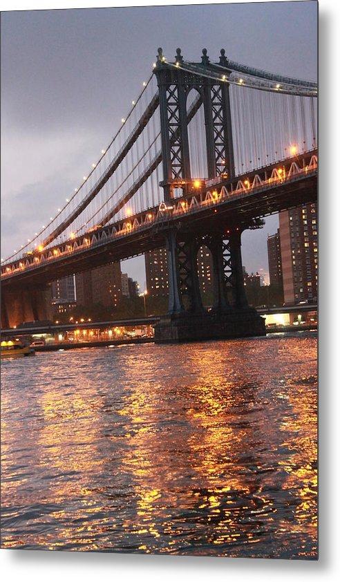 Bridge Metal Print featuring the photograph Manhattan Bridge by Nina Mirhabibi
