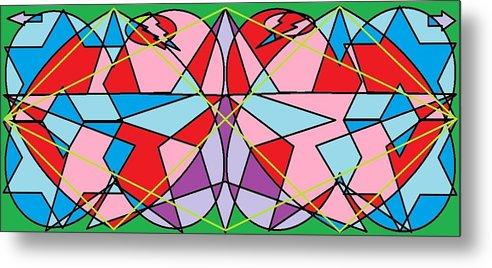 Diamond Metal Print featuring the digital art Green Diamond by Rachael McIntosh