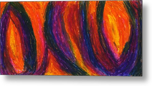 Abstract Metal Print featuring the drawing The Divine Fire by Daina White