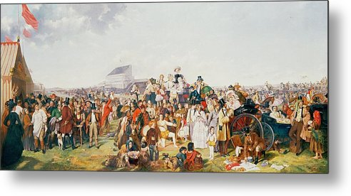Derby Metal Print featuring the painting Derby Day by William Powell Frith
