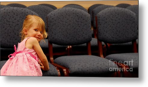 Girls Metal Print featuring the photograph A Chair For Me by Steven Milner