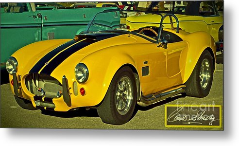 Cobra Metal Print featuring the photograph Yellow Cobra by Gwyn Newcombe