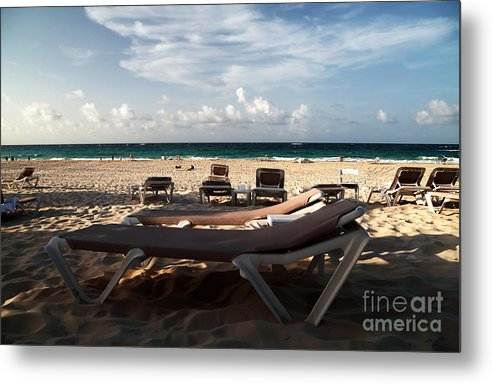 Empty Chair Metal Print featuring the photograph Empty Chair by John Rizzuto