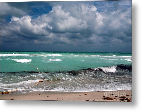 South Beach Storm Clouds Metal Print featuring the photograph South Beach Storm Clouds by John Rizzuto