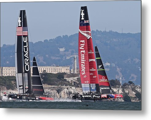 Today Metal Print featuring the photograph America's Cup San Francisco by Steven Lapkin