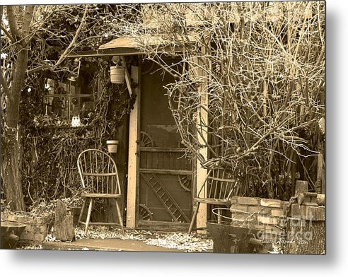 Genoa Metal Print featuring the photograph The Old House In Genoa Nevada by Artist and Photographer Laura Wrede