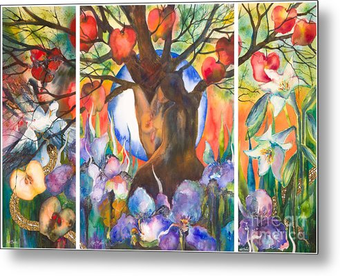Tree Of Life Metal Print featuring the painting The Tree Of Life by Kate Bedell