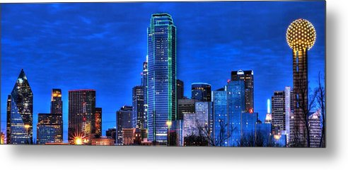 Dallas Metal Print featuring the photograph Dallas Skyline Hd by Jonathan Davison