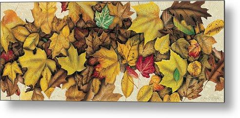 Jon Q Wright Metal Print featuring the painting Autumn Splendor by JQ Licensing