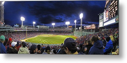 Crowd Metal Print featuring the photograph Fenway Night by Rick Berk