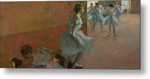 Dancers Metal Print featuring the painting Dancers Ascending A Staircase by Edgar Degas