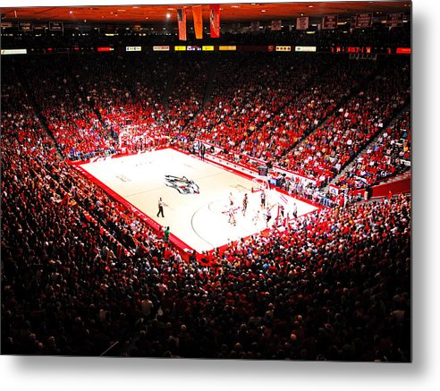 Albuquerque Metal Print featuring the photograph New Mexico Lobos University Arena by Replay Photos