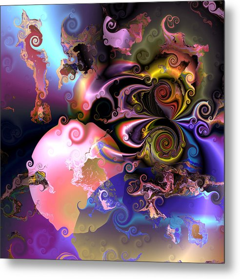 Abstract Metal Print featuring the digital art Aw 32 by Claude McCoy