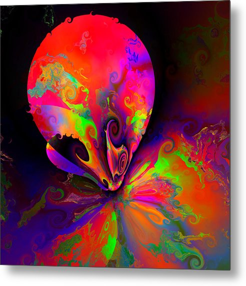 Colorful Abstract Algorithmic Contemporary Metal Print featuring the digital art Ocf 510 by Claude McCoy