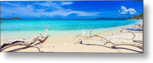 Sea Metal Print featuring the photograph Tropical Beach Malcapuya by MotHaiBaPhoto Prints