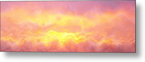 Abstract Art Metal Print featuring the digital art Above The Clouds - Abstract Art by Jaison Cianelli