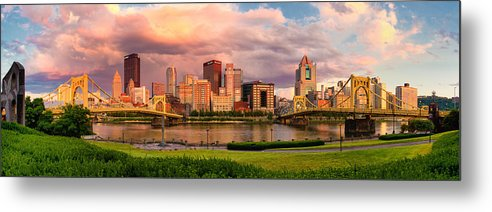 Pittsburgh Metal Print featuring the photograph Break Open The Skies by Jennifer Grover