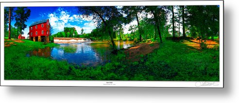 Historic Metal Print featuring the photograph Starrs Mill 360 Panorama by Lar Matre