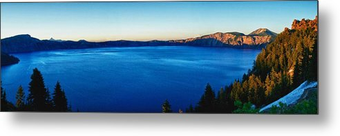 Crater Lake Metal Print featuring the photograph Blue Blue Blue by Rob Wilson