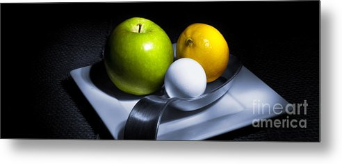 Apple Metal Print featuring the photograph Still Life Eclectic 2 by Cecil Fuselier