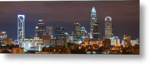 City Metal Print featuring the photograph Charlotte Skyline 2012 by Brian Young