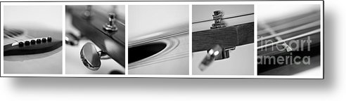 Black Metal Print featuring the photograph Long As The Guitar by Priska Wettstein