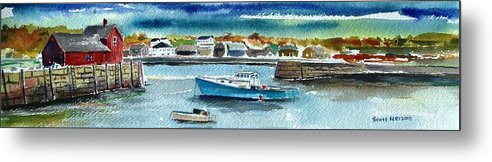 Rockport Metal Print featuring the painting Rockport Harbor by Scott Nelson