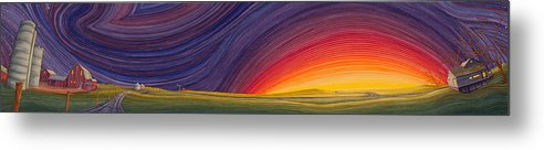Great Plains Art Metal Print featuring the painting Powhatten II by Scott Kirby