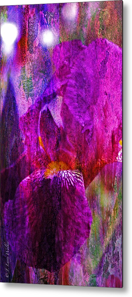 J Larry Walker Metal Print featuring the photograph Iris Abstract by J Larry Walker