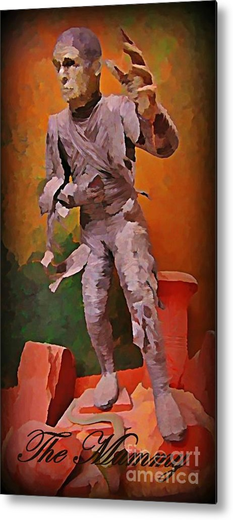 Nightmares Metal Print featuring the painting The Mummy by John Malone