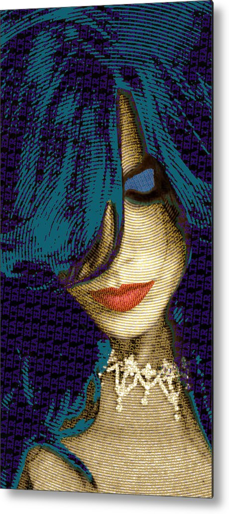 Woman Metal Print featuring the painting Vain 2 by Tony Rubino