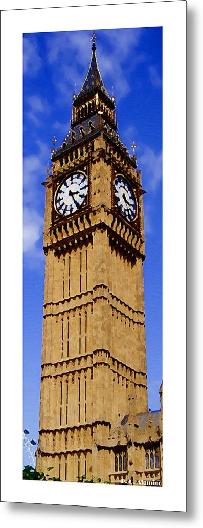 London Metal Print featuring the photograph Citymarks London by Roberto Alamino
