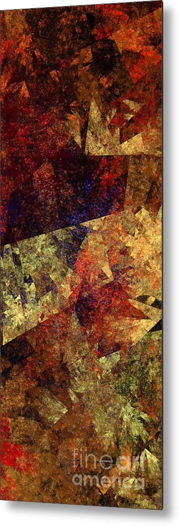 Abstract Metal Print featuring the digital art Autumn Road by Andee Design