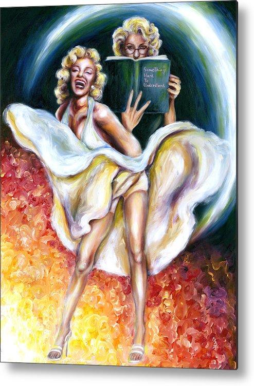 Marilyn Monroe Parody Metal Print featuring the painting 12 Signs Series Gemini by Hiroko Sakai
