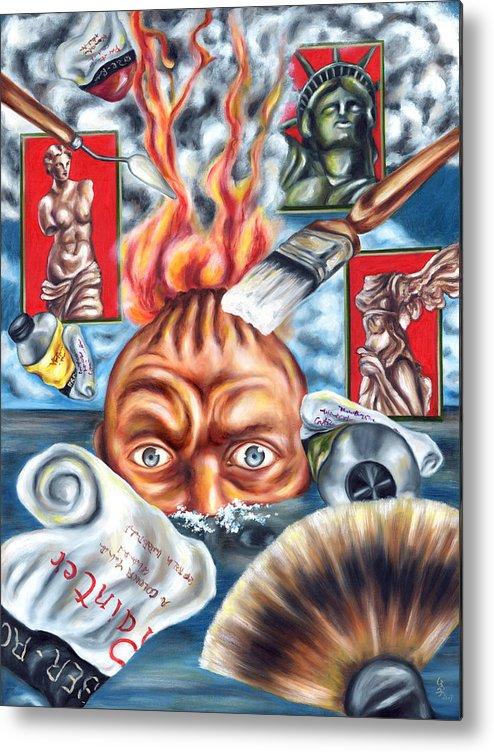 Ocean Metal Print featuring the painting A Dream Last Night by Hiroko Sakai