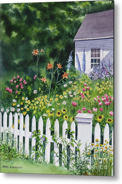 Cottage Metal Print featuring the painting Bass River Cottage by Karol Wyckoff