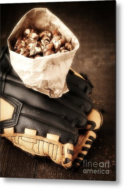 Baseball Metal Print featuring the photograph Buy Me Some Peanuts And Cracker Jack by Edward Fielding