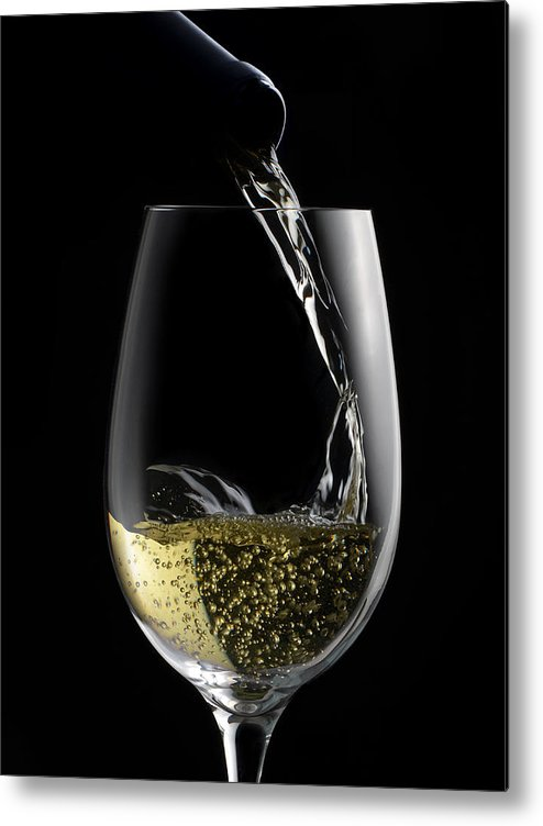 White Metal Print featuring the photograph Chilled White by Dennis James