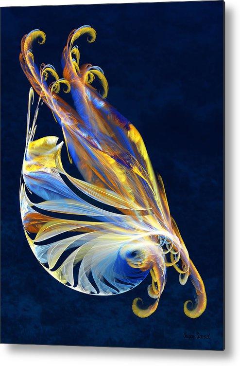Fractal Metal Print featuring the digital art Fractal - Sea Creature by Susan Savad
