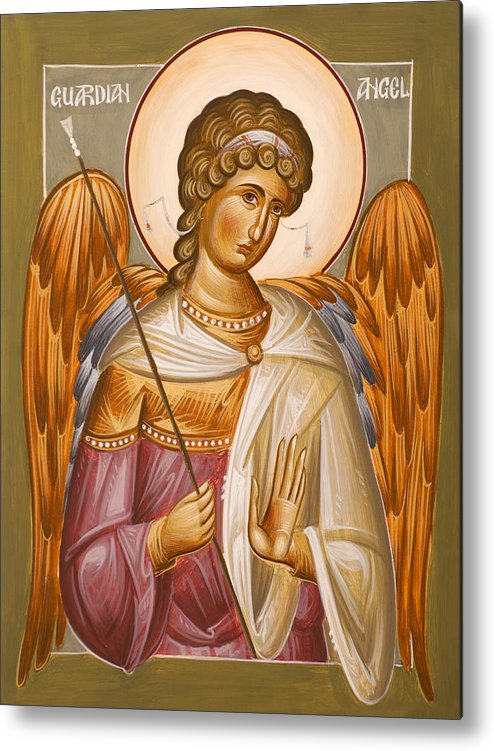 Guardian Angel Metal Print featuring the painting Guardian Angel by Julia Bridget Hayes