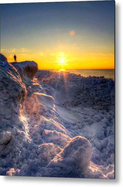 Frozen Metal Print featuring the photograph King Of The Hill by Jenny Ellen Photography