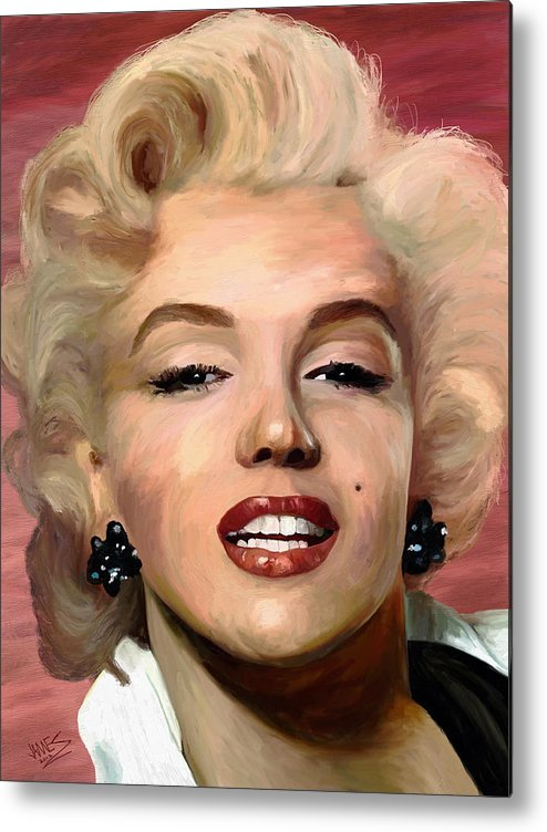 Impressionism Metal Print featuring the painting Marylin Monroe by James Shepherd