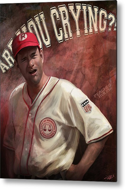 Dugan Metal Print featuring the digital art No Crying In Baseball by Steve Goad