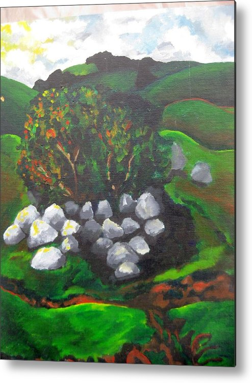 Spring Metal Print featuring the painting Untitled by Iris Gill