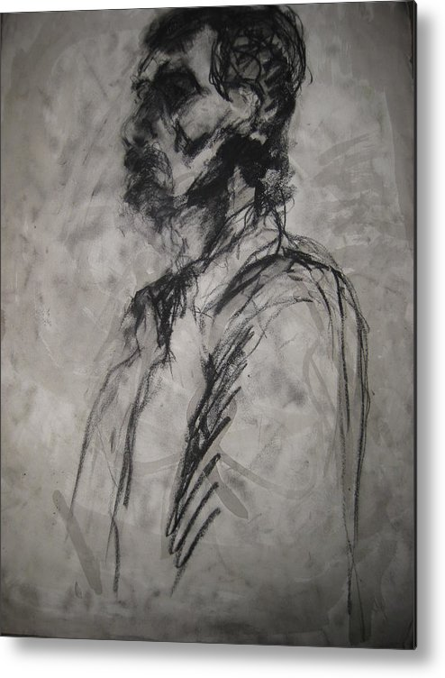 Fine Art Metal Print featuring the drawing Untitled by Iris Gill