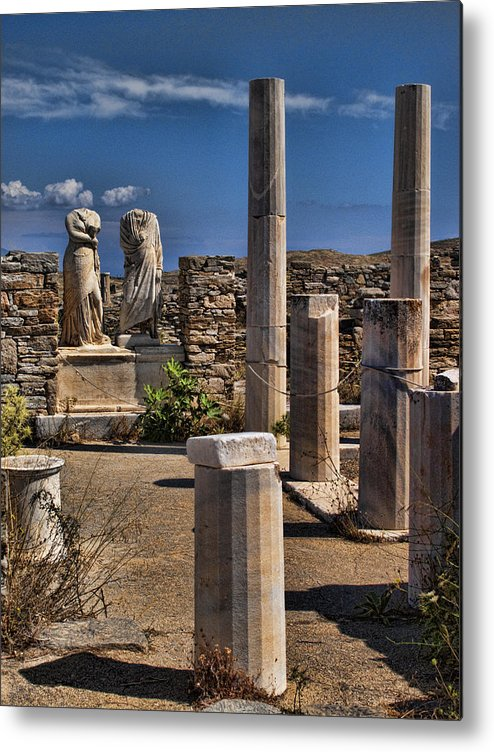 House Of Cleopatra Metal Print featuring the photograph Delos Island by David Smith