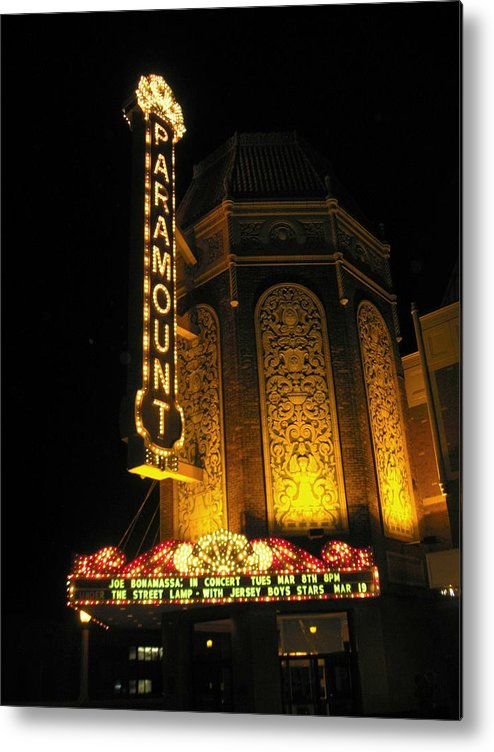 Movie Theatre Metal Print featuring the photograph Paramount Theatre Illinois by Todd Sherlock