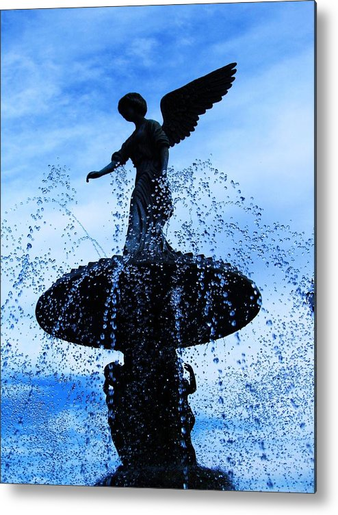 Beautiful Fountain Metal Print featuring the photograph Peace by Todd Sherlock